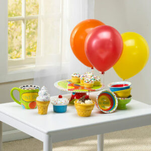 Festive Party Pottery with Balloonw