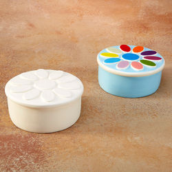 Daisy Scout Painted Ceramic Box